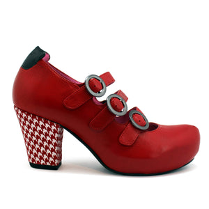Papier-red houndstooth