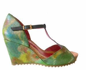 Solia -Turquoise wedge-LAST PAIR 37!
