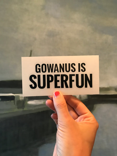 Transfer Sticker: Gowanus is Superfun
