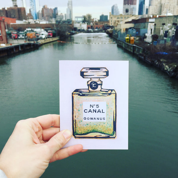 "Postcard ""Canal no. 5"" by Lance Rutledge"