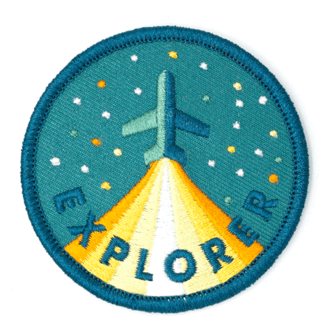 These Are Things Iron-On Embroidered Patch - Explorer