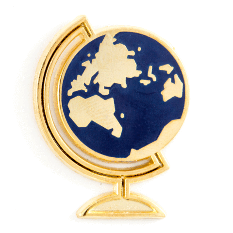 These Are Things Enamel Pin - Globe