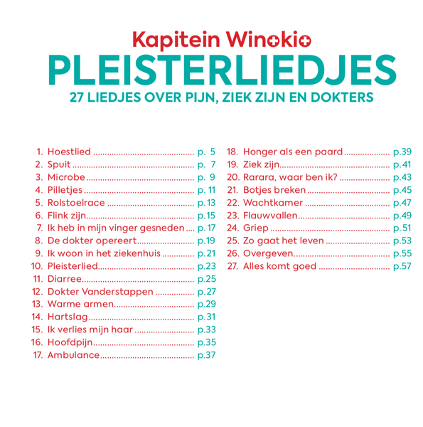 Pleisterliedjes met CD