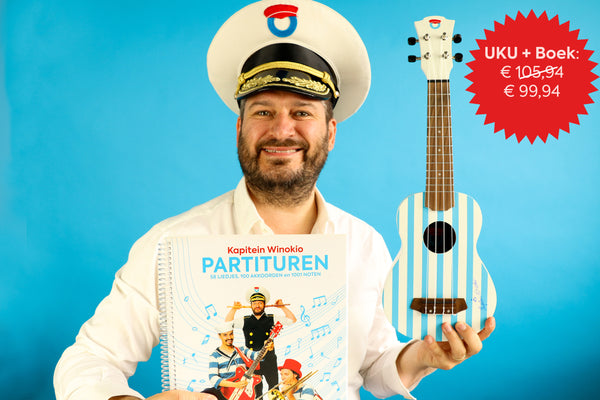 COMBI DEAL: Ukelele + partituren