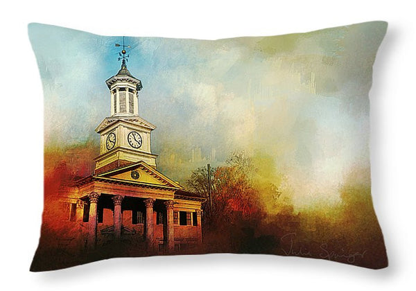 College Colors lumbar pillow - Julia Springer | convergent media art