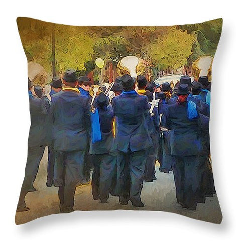 Going Home accent pillow - Julia Springer | convergent media art