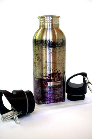 Stainless Steel Water Bottle - Home for Tea - Julia Springer | convergent media art - 1