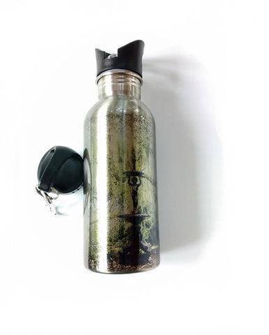 Stainless Steel Water Bottle - Carolina Fountain - Julia Springer | convergent media art - 1