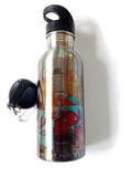 Stainless Steel Water Bottle - Sunshine in Springtime - Julia Springer | convergent media art - 2