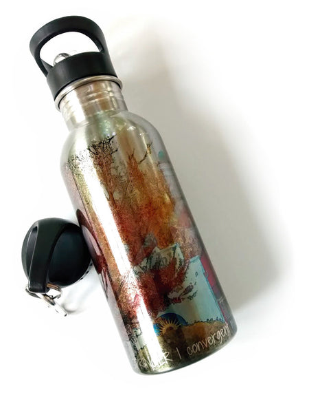 Stainless Steel Water Bottle - Sunshine in Springtime - Julia Springer | convergent media art - 1