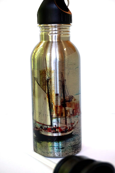 Stainless Steel Water Bottle - Schooner Bay - Julia Springer | convergent media art - 1
