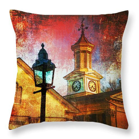Square accent Pillow - The Lamp - Julia Springer | convergent media art - 1