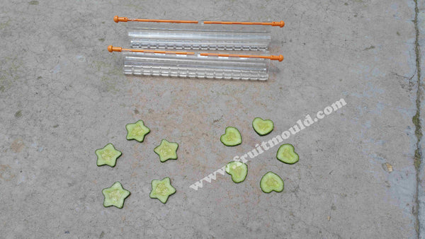 Star and heart cucumber mold set for sale (2 of  each star and heart mold free shipping)