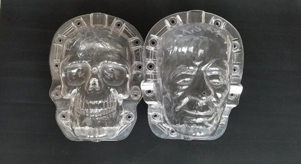Skull and Frankenstein pumpkin mold one each package with free shipping