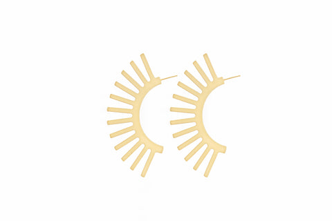 Maxi-Statement-Dramatic-Night-Cocktail-Party-Ear-Gold-Silver-Earrings-hoops-Minimalist-Geometric-Simple-Chic-Elegant
