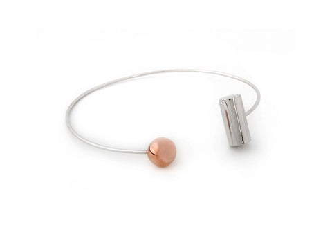 Sterling-Silver-Rose-Gold-Choker-Minimalist-Solar-Eclipse-Homini-Studio-Jewelry-Contemporary-Geometric-Simple-Chic-Elegant