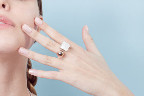 Rose-Gold-Sterling-Silver-Ring-Minimalist-Homini-Studio-Jewelry-Contemporary-Geometric-Simple-Chic-Elegant
