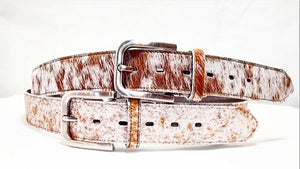 Nguni Hair On 40 MM Belt - Karoo Classics