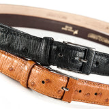 Ostrich Leather Belt 30 MM (Gold Buckle) - Karoo Classics