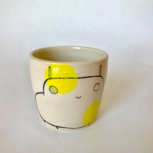 Yellow Polka Dot Critter l Cup