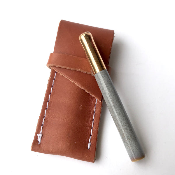 Sage One Hitter + Leather Sheath