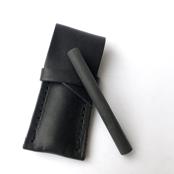 Matte Black One Hitter + Leather Sheath