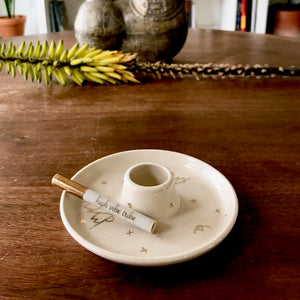 White |  Round Smoke Tray