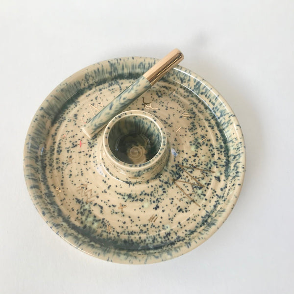 Speckled Dark Green |  Ash Tray
