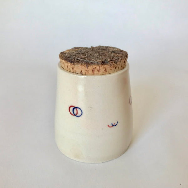 Red + Blue Smile | Mini Container with Cork