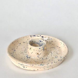 Speckled Pink + Blue | Round Smoke Tray