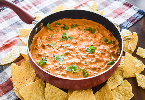 Skillet Beefy Queso