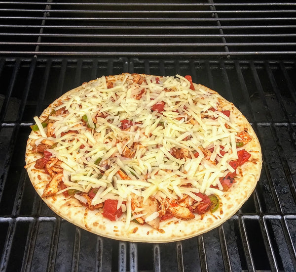 photo of pizza in grill