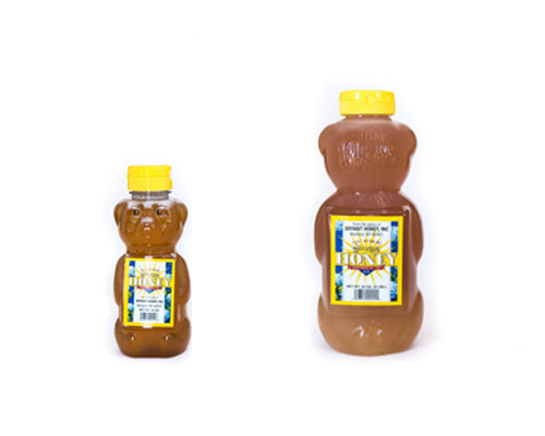 small honey bear and big 32 oz honey bear