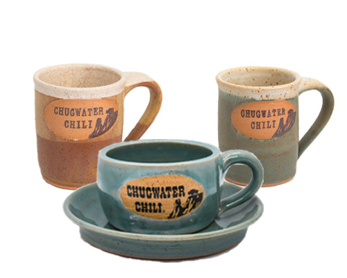 Coffee and Chili mug with plate