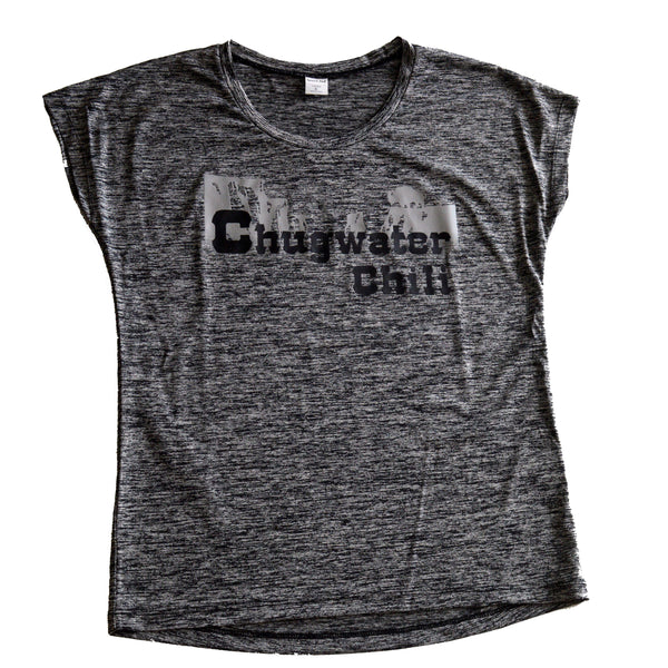 Ladies T-Shirt Chugwater Chili Products Chugwater Chili S Grey