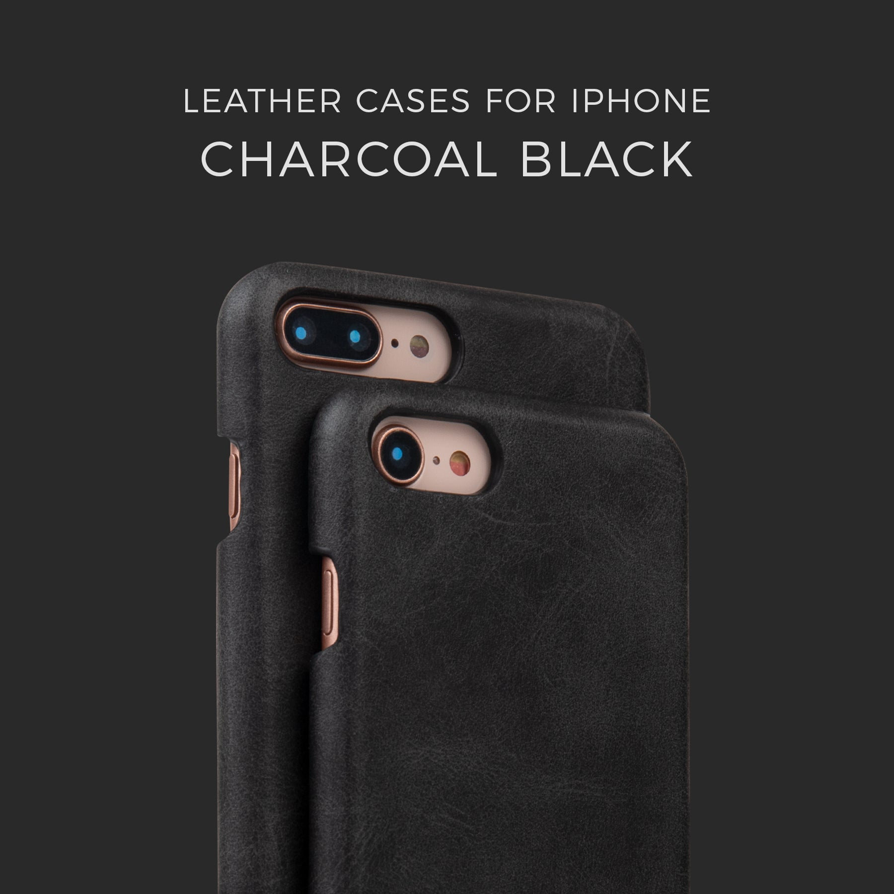 Charcoal Black Leather Case