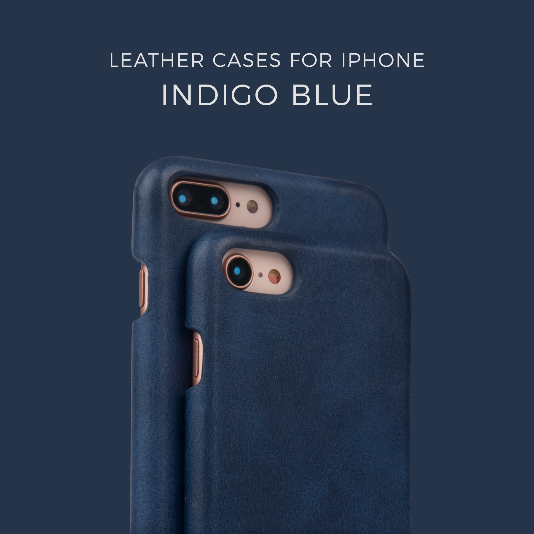 Indigo Blue Leather Case