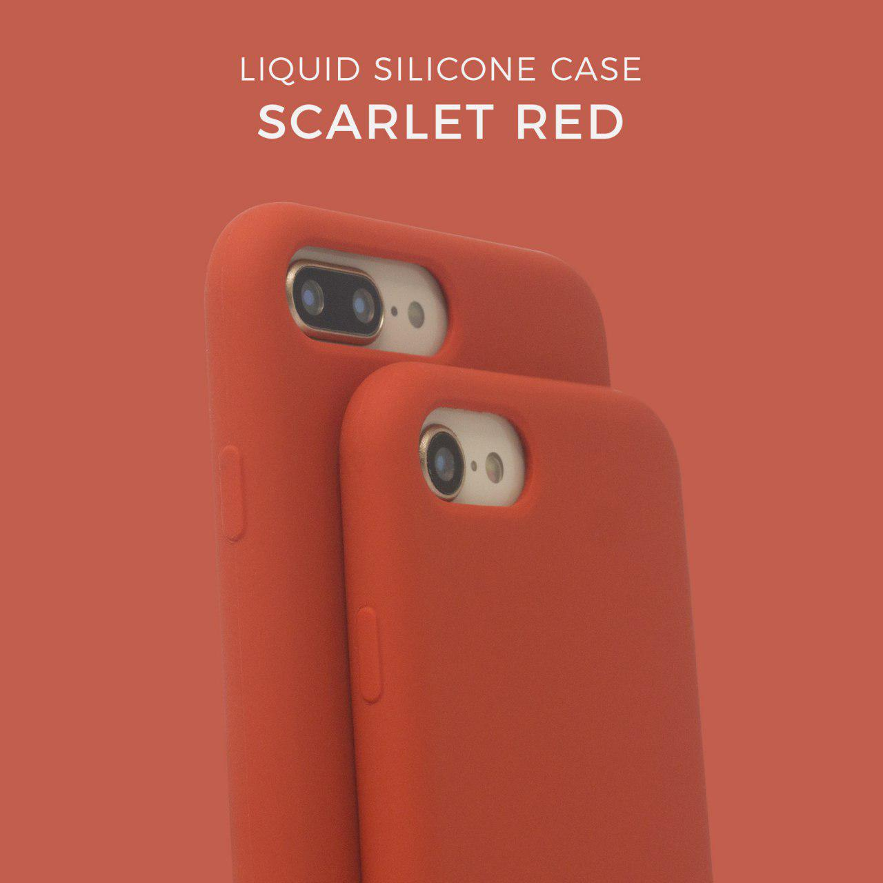 Liquid Silicone case - Scarlet Red