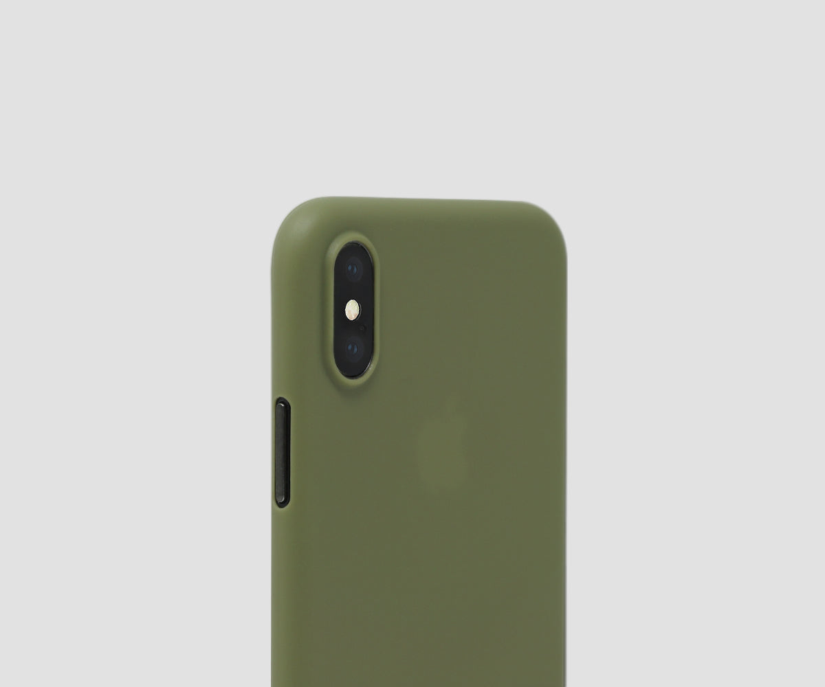 Olive Green - iPhone X ultra thin case