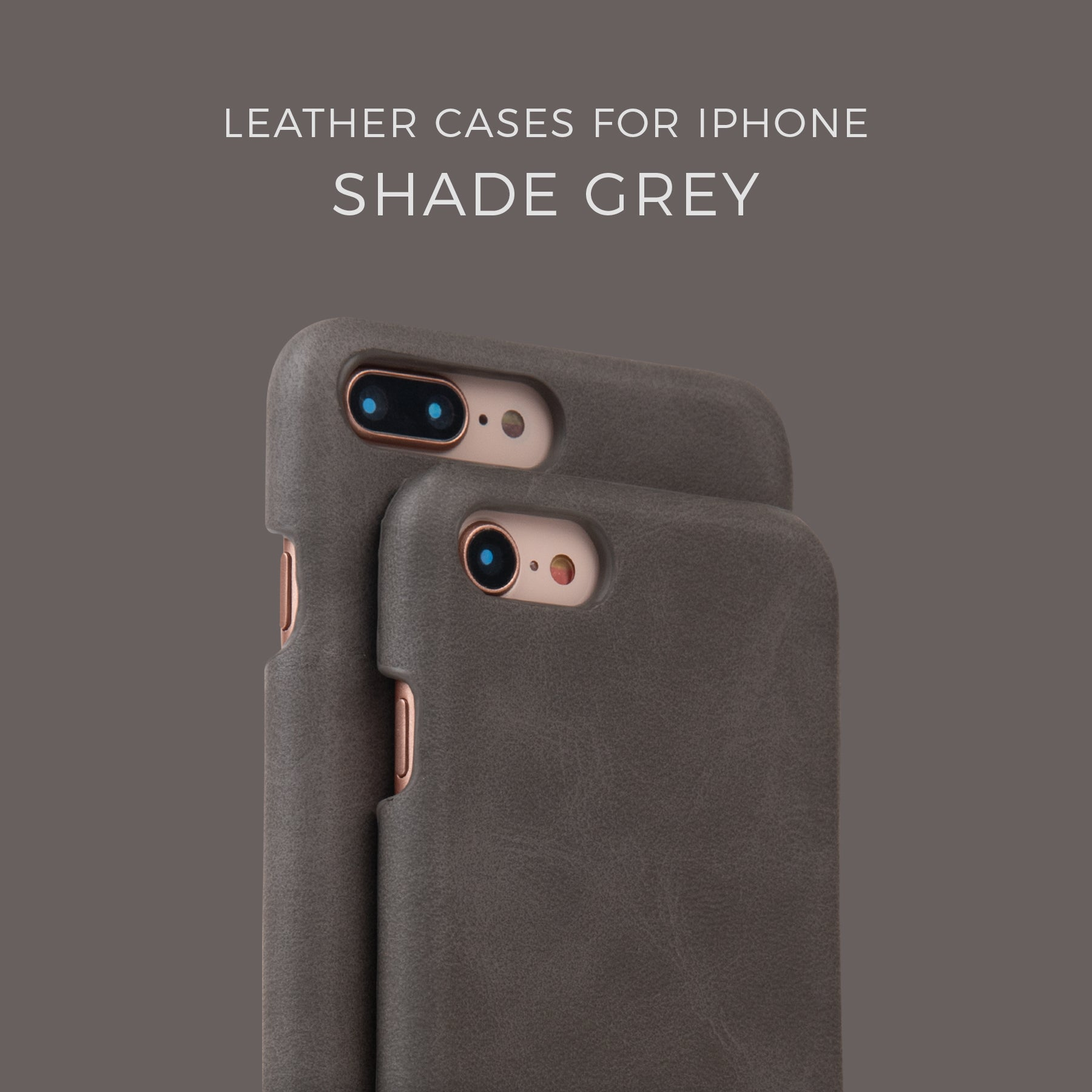 Shade Grey Leather Case