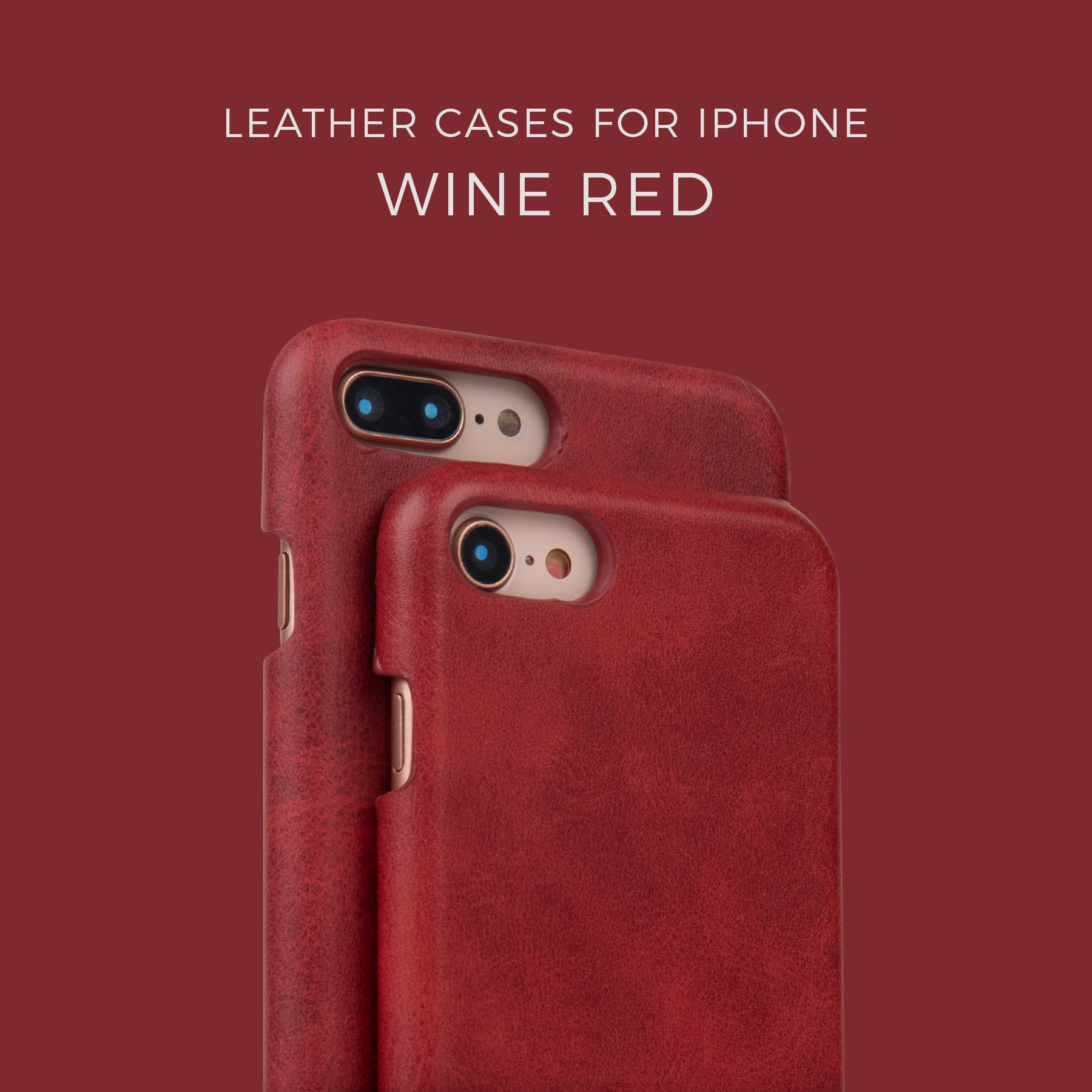Wine Red Leather Case