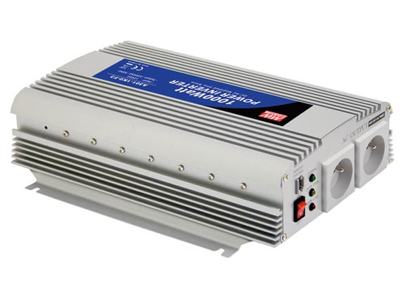 VELLEMAN A301-1K0-TE MEAN WELL - DC-AC INVERTER MET GEMODIFICEERDE SINUSGOLF - 1000 W - PENAARDE