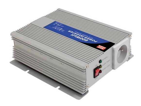 VELLEMAN A301-600-TE MEAN WELL - DC-AC INVERTER MET GEMODIFICEERDE SINUSGOLF - 600 W - PENAARDE