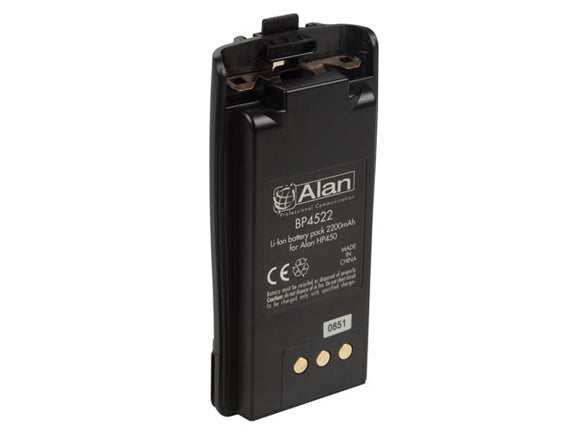VELLEMAN ALNA014 SPARE BATTERY LI-ION -2200MAH FOR ALN003 (G7) & ALN006 (ALAN® HP450L - PMR446+PMR - IP67)
