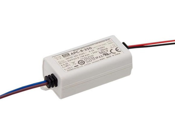 VELLEMAN APC-8-350 LED-DRIVER MET CONSTANTE STROOM - 1 UITGANG - 350 MA - 8.05 W