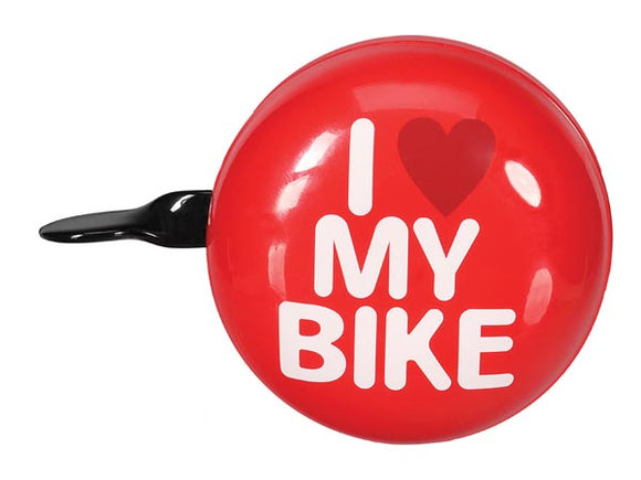 VELLEMAN BR1 BICYCLE BELL - 'I LOVE MY BIKE' - Ø 8 CM - RED