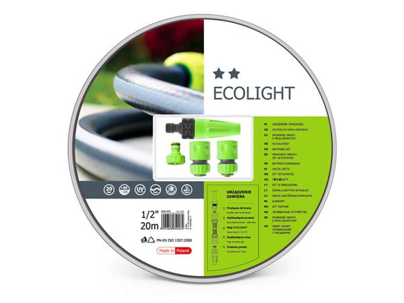 VELLEMAN CF10-190 CELLFAST - ECOLIGHT SET - TUINSLANG 20 M - 4 SPUITSTUKKEN - 1/2