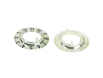 VELLEMAN CP21TB12 DIAL FOR 21MM BUTTON (TRANSPARENT - BLACK 12 DIGITS)