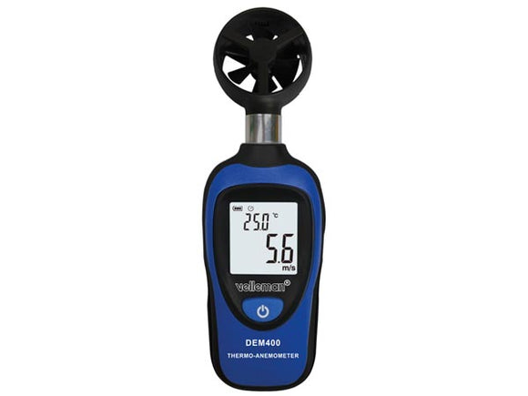 VELLEMAN DEM400 DIGITALE MINI THERMOMETER-ANEMOMETER