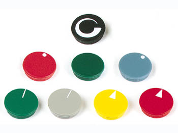 VELLEMAN DK15NWS LID FOR 15MM BUTTON (BLACK - WHITE LINE)